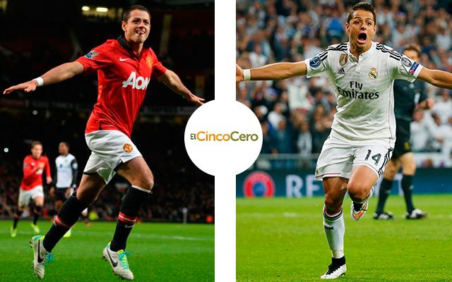 Javier 'Chicharito' Hernández - Manchester United (2010 - 2014 y 2015) y Real Madrid (2014 - 2015)