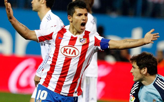 Sergio Kun Aguero Atletico Madrid Real Madrid
