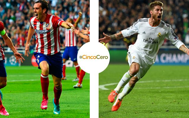 Diego Godin Sergio Ramos Atletico De Madrid Real Madrid Champions League
