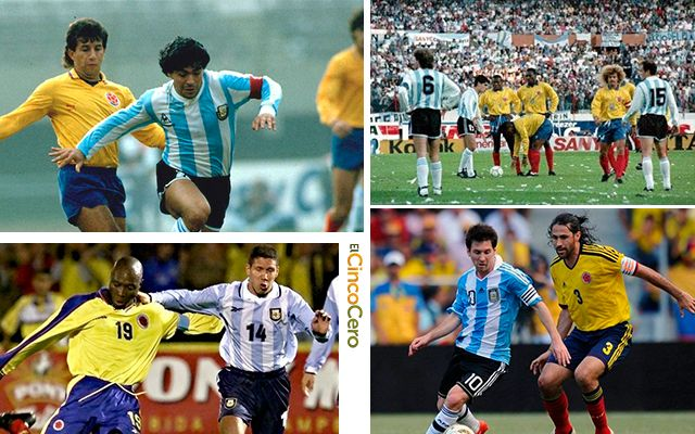 Historial Colombia Argentina