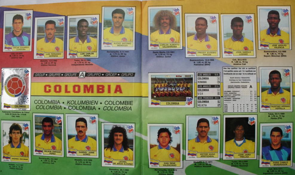 Colombia en álbum de USA 1994