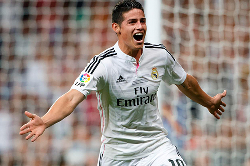 James Rodríguez anotó su primer gol con el Real Madrid